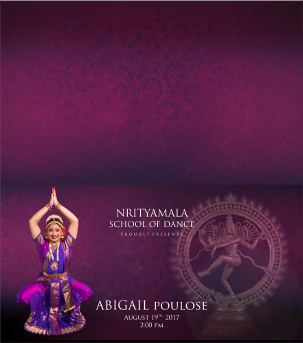 Arangetram Folded Invitations