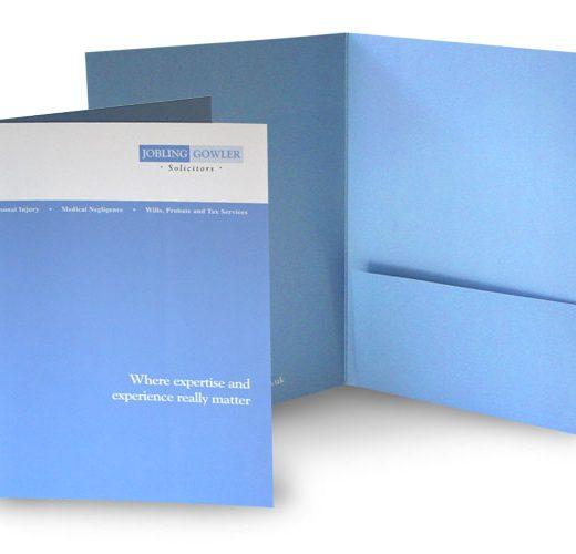 High quality folder printing