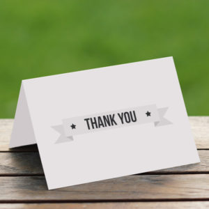 Best folded thank you cards