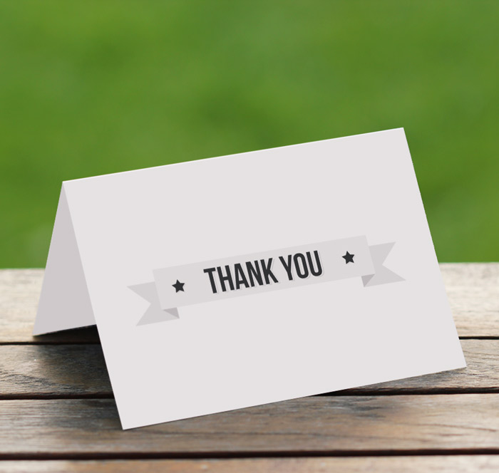 Folded thank you cards bookmarktalkfo Gallery