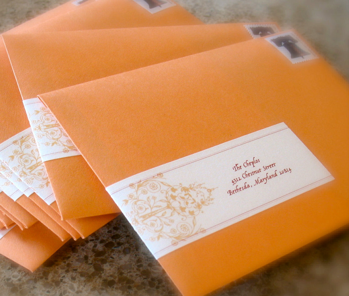 Address labels for letters