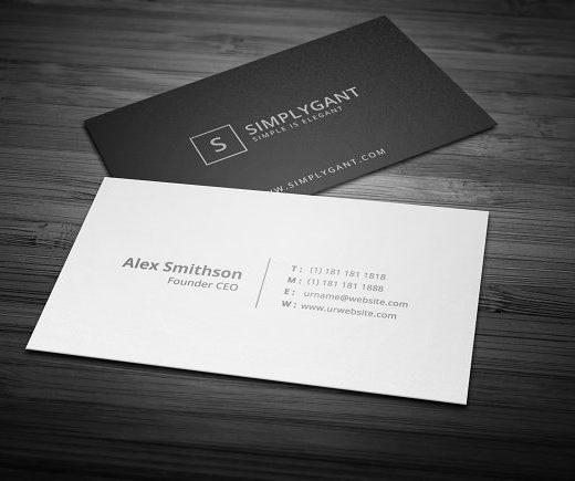 Linen Textured Business Cards