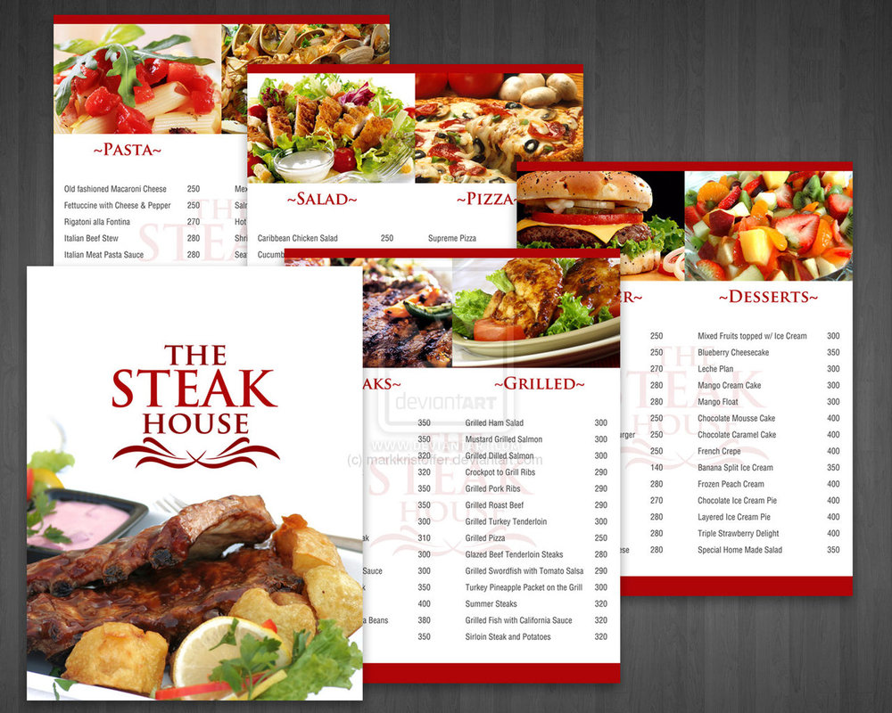 Custom restaurant food menu printing virginia maryland