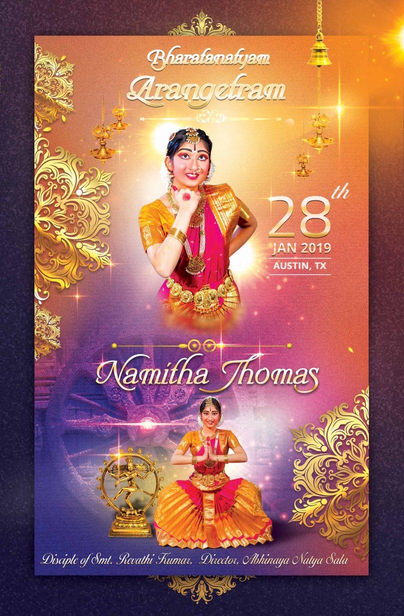 Rangapravesam Invitation