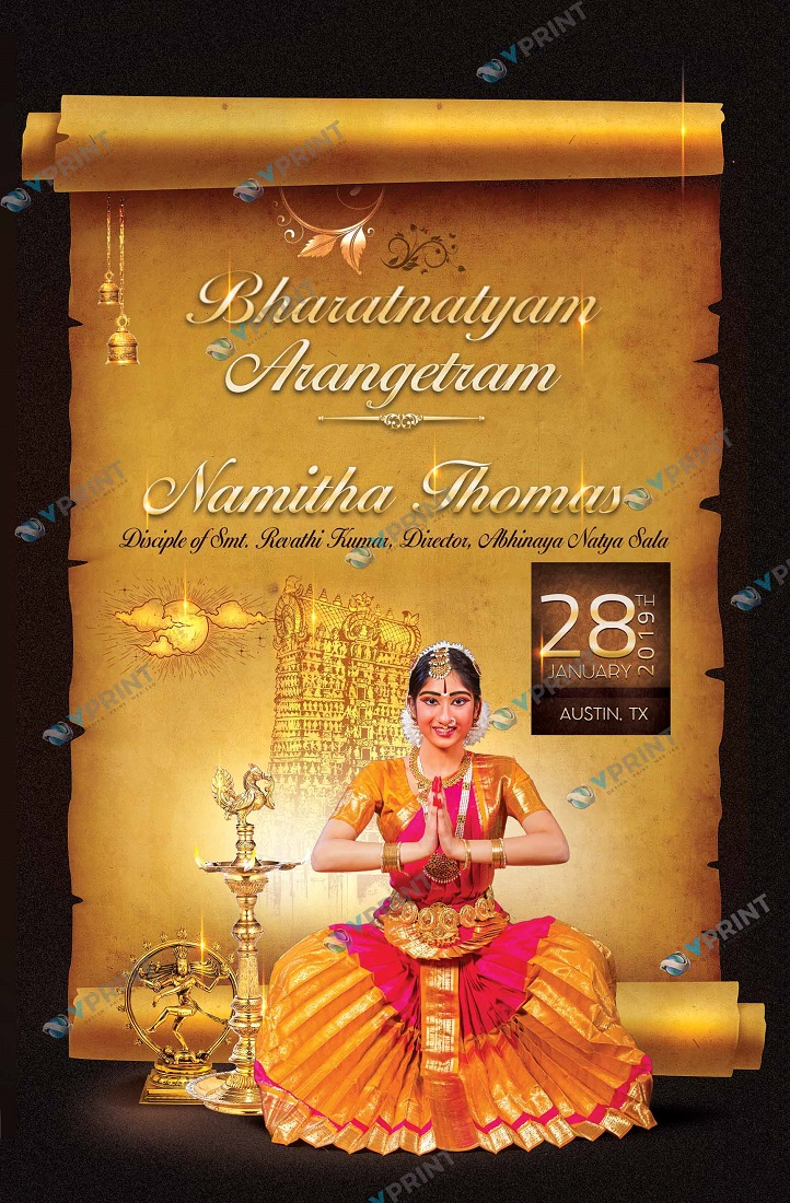 VPrint Arangetram Invitations