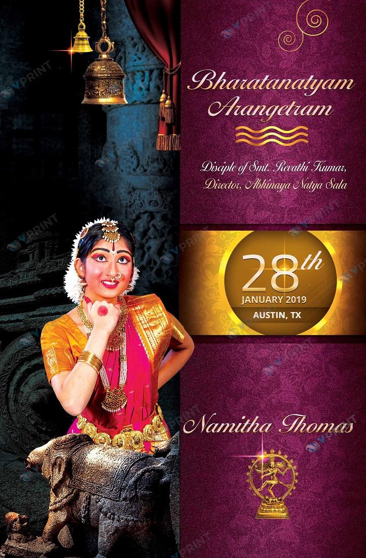 Arangetram invitation