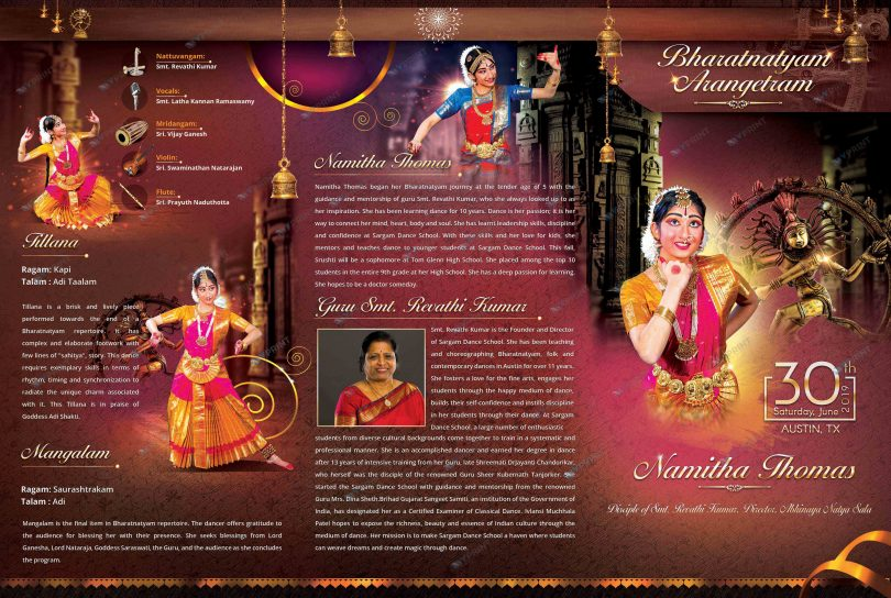 Dance Photo Event Brochure