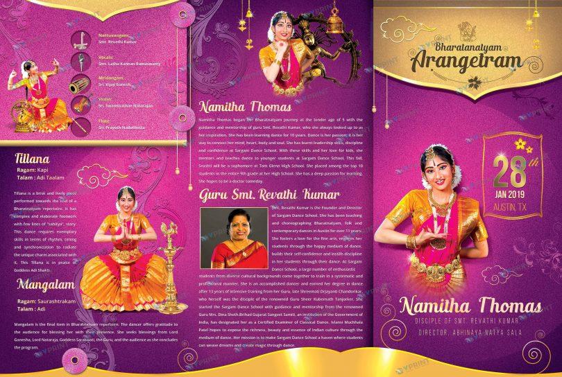 Arangetram Brochure Printing