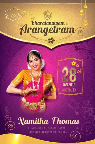 Arangetram invites 2019
